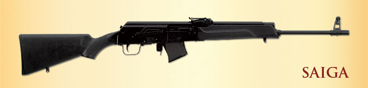 Stock Saiga rifle in sporter configuration